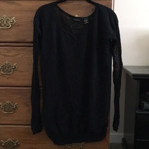 Black sweater, med sz, shear back and sleeves